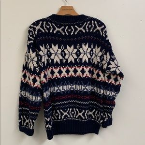 american portrait Sweaters - Vintage Cotton Chunky Sweater Size M